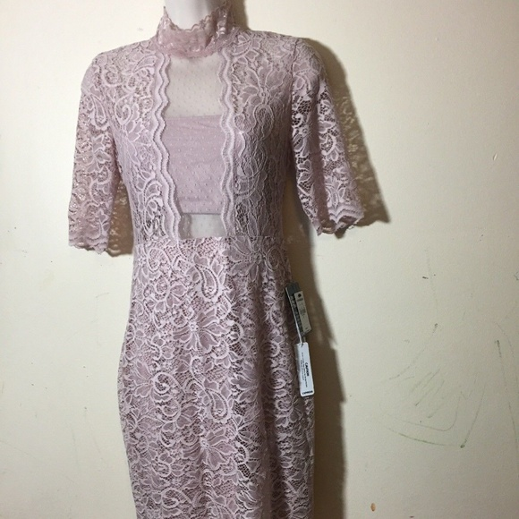 Express Dresses & Skirts - Express Womens Dress Size 4 Pink Print Bodycon